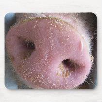 Pink Pig nose close up photograph Mouse Pad