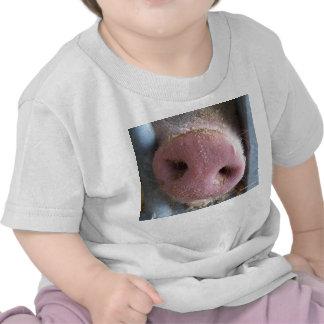 Pink Pig nose close up photograph T-shirt