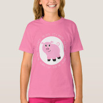Pink Pig Out It's Party Time Silly Pig T-Shirt