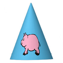 Pink Pig, Party Hat