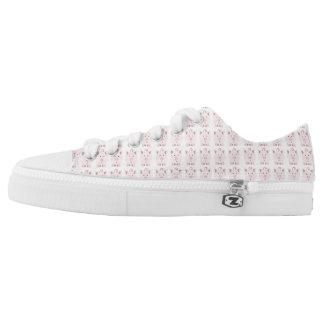 Pink Pig Pattern Low-Top Sneakers
