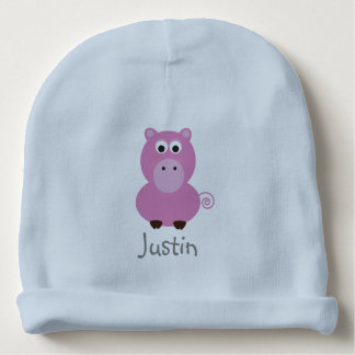 Pink Pig Personalized Hat