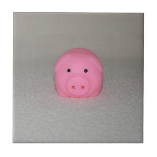 Pink Pig Piggy Ceramic Tile