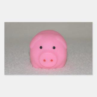 Pink Pig Piggy Rectangular Sticker