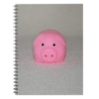 Pink Pig Piggy Spiral Notebook