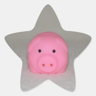 Pink Pig Piggy Star Sticker
