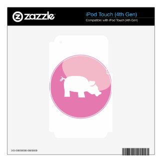Pink Pig Round Icon iPod Touch 4G Skins