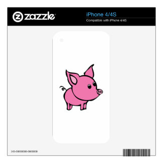 Pink Pig iPhone 4S Decal