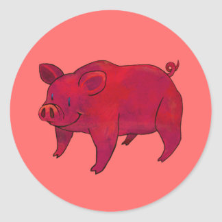 PInk Pig Small Stickers