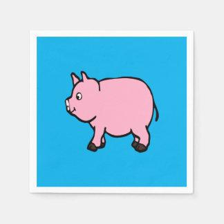 Pink Pig Standard Cocktail Paper Napkins