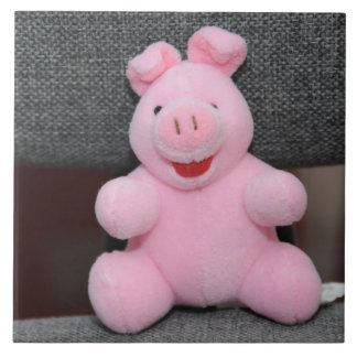 Pink pig toy tile