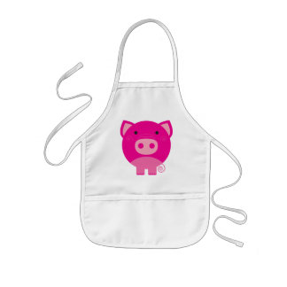 Pink Pig Tshirts and Gifts Kids' Apron