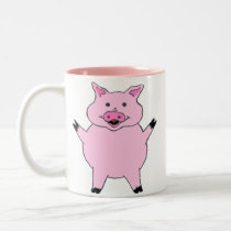 Pink Pig Two-Tone Coffee Mug