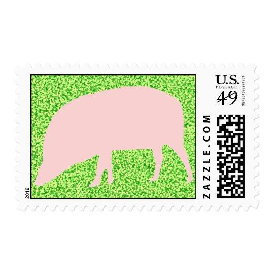 Pink Pig US Postage Stamp