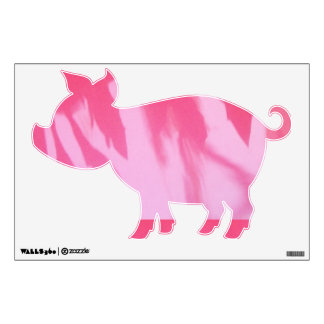 Pink-Pig Wall-Decal© Roseanne Pears 2012. Wall Decal