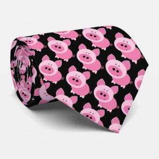Pink Piggies man Tie