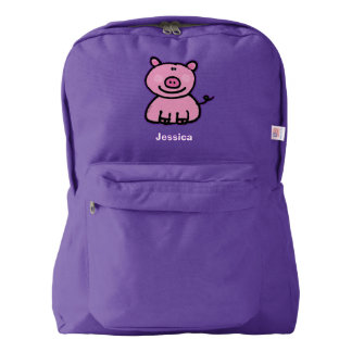 pink piggy backpack