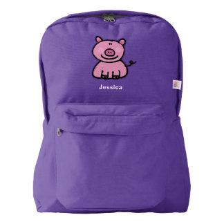 pink piggy backpack