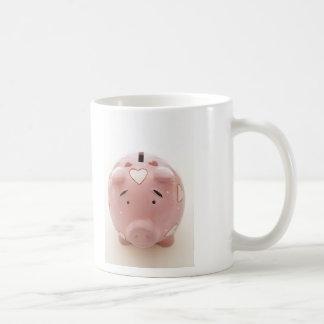 Pink Piggy Bank Coffee Mug