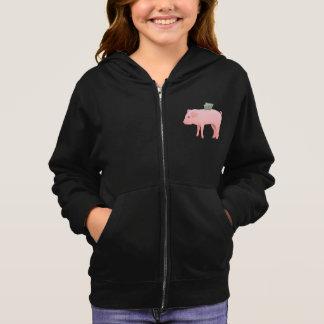 Pink Piggy Bank Girls Hoodie