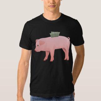 Pink Piggy Bank Mens T-Shirt
