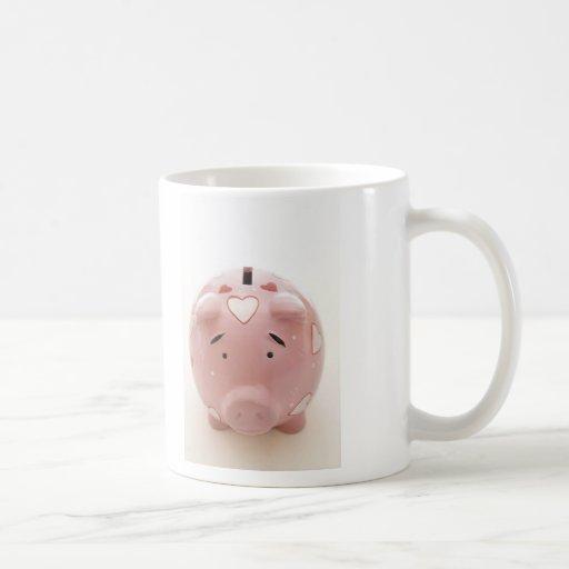Pink Piggy Bank Mugs
