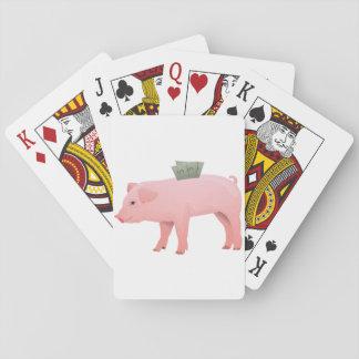 Pink Piggy Bank Playing Cards