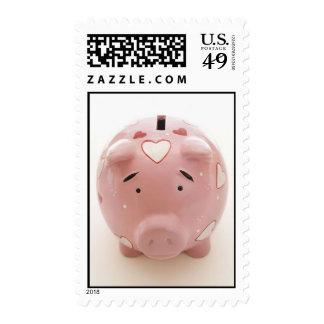 Pink Piggy Bank Postage