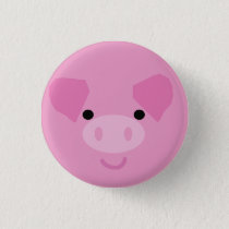 Pink Piggy Button