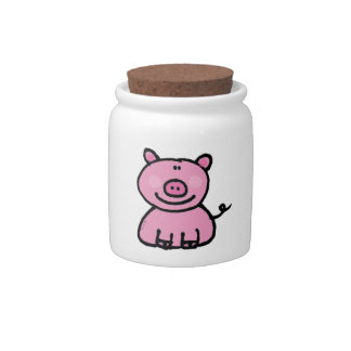 pink piggy candy jars