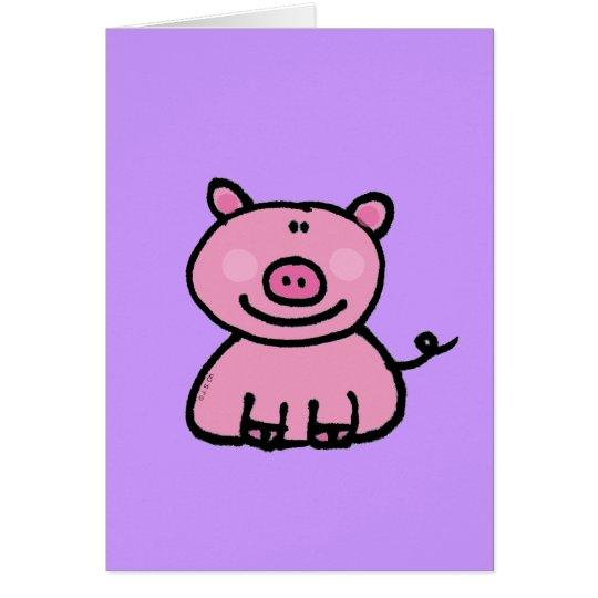 Pink piggy card