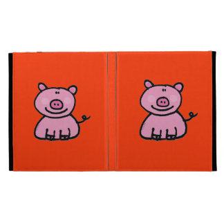 pink piggy iPad folio cases