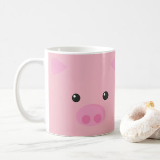 Pink Piggy Face Coffee Mug
