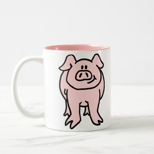 Pink Piggy Front and Back Mug