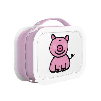 pink piggy lunch box