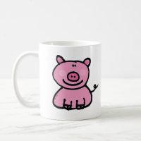 Pink piggy mug