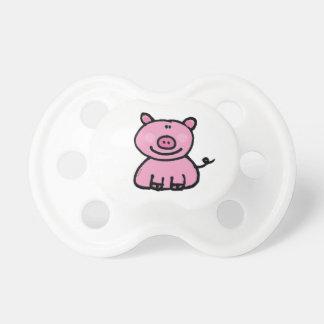pink piggy pacifier