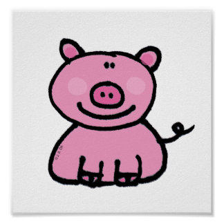 Pink piggy posters