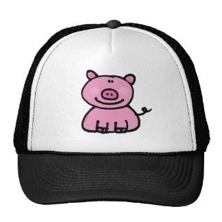 Pink piggy trucker hat