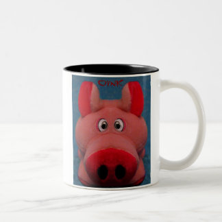 Pink Piggy two-tone mug