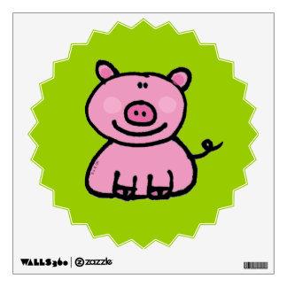 pink piggy wall sticker