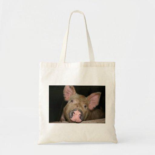 Pink Piglet Budget Tote Bag