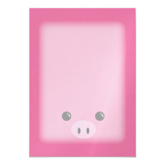Pink Piglet Cute Animal Face Design Card