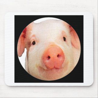 """""""Pink piglet"""" Mouse Pad"""