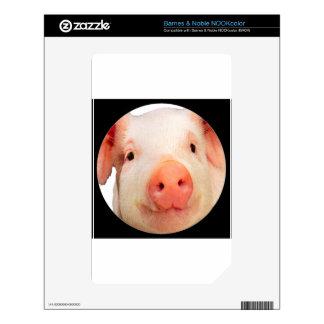 """""""Pink Piglet"""" Skin For The NOOK Color"""