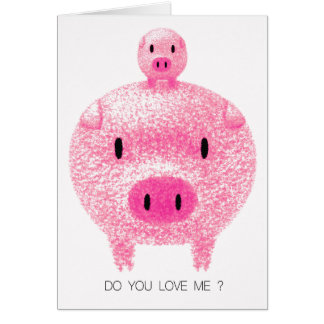 Pink Pigs Card