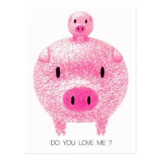 Pink Pigs Postcard