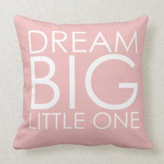 Pink Pillow Dream Big Little One Girls Nursery