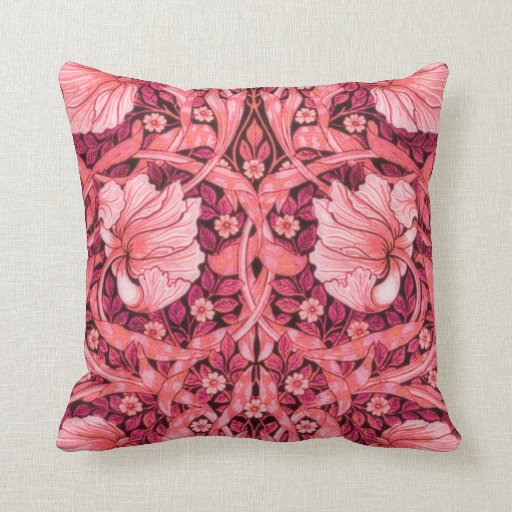 Pink Pimpernel Flowers American MoJo Pillow