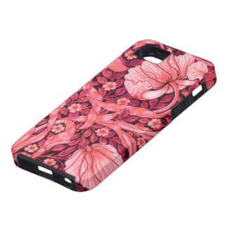 Pink Pimpernel Flowers iPhone SE/5/5s Case